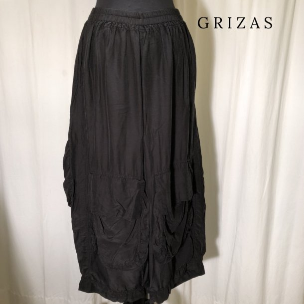 Grizas design lommebuks silke & bambus sort