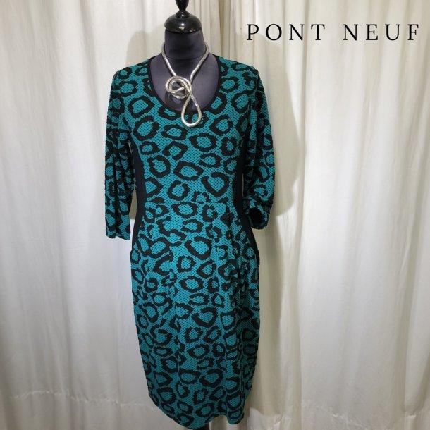 Pont Neuf grafisk kjole græsgrøn/sort
