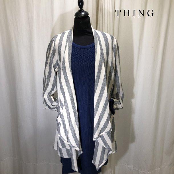 Thing stribet jakke blå/natur