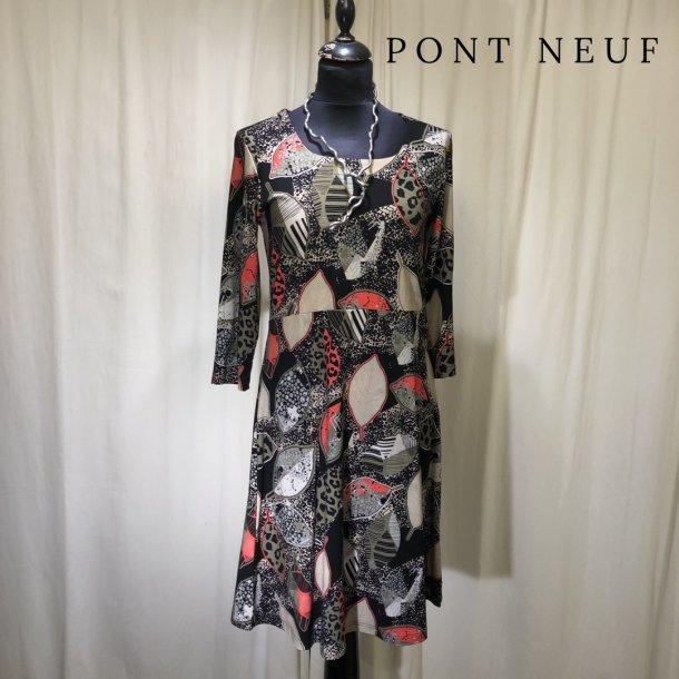 Pont Neuf mønsteret kjole sand/khaki/koral