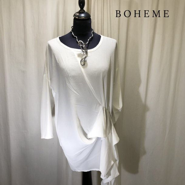 b02e7a01e10 Boheme design tunika med bindeeffekt råhvid