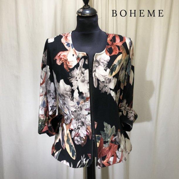 Boheme design jakke med blomster