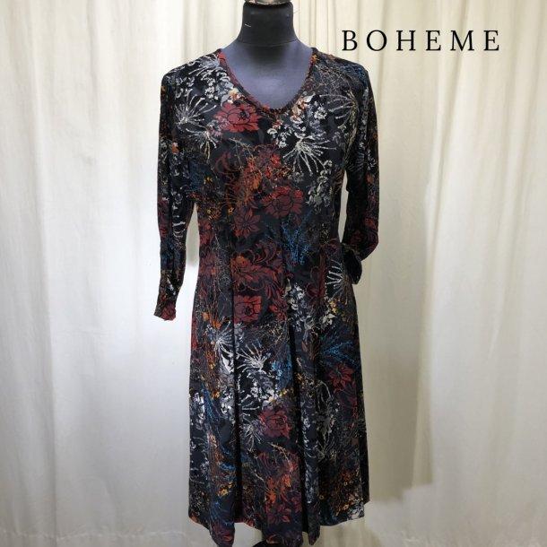 Boheme design kjole flocktryk blomster