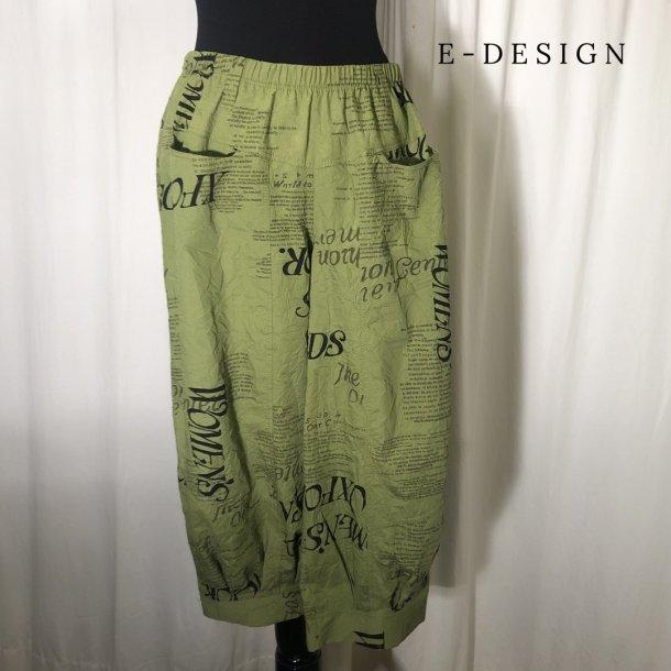 a E-Design sommer stumpe buks græsgrøn print
