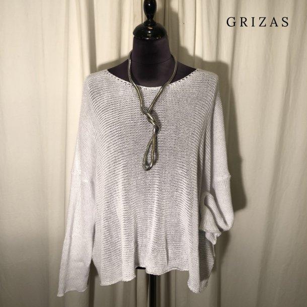 Grizas hørstik med vidde hvid