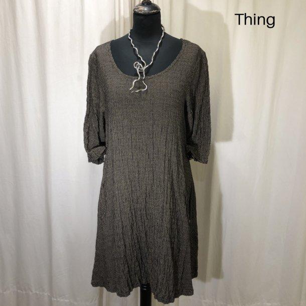 Thing design tunika-kjole brun/sort