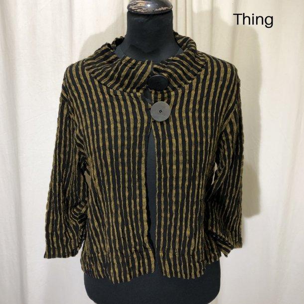 Thing kort design jakke med 2 knapper sennep/sort