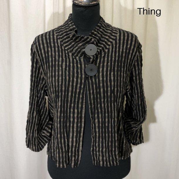 Thing kort design jakke med 2 knapper brun/sort