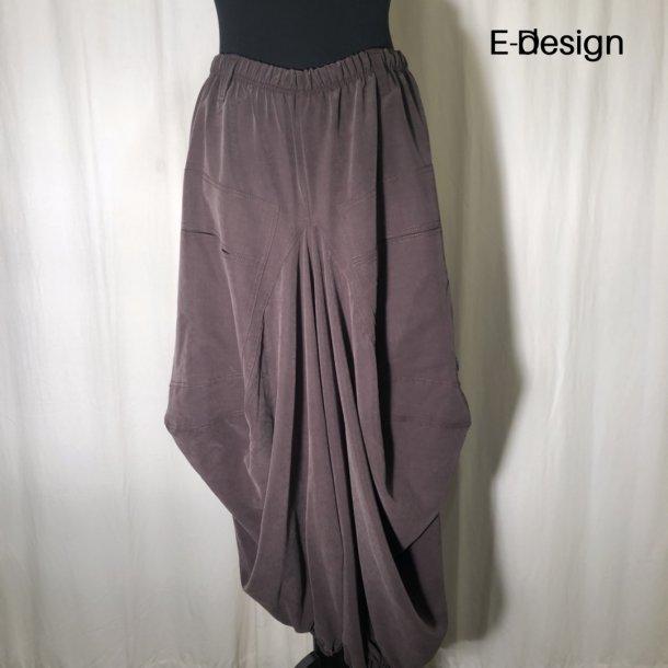 E-Design vandfaldsbuks tencel brun