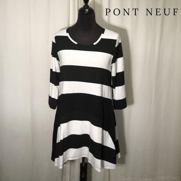 Pont Neuf stribet bluse sort/hvid