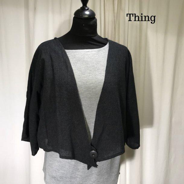 Thing kort spids jakke grå