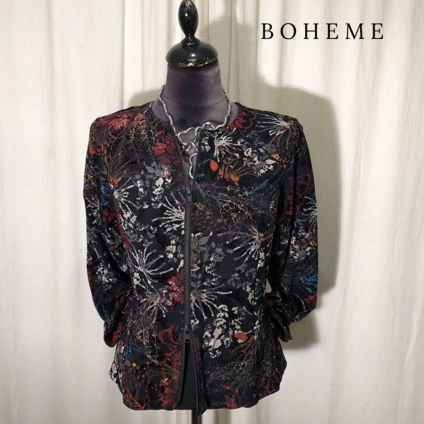 Boheme kort design jakke med lynlås