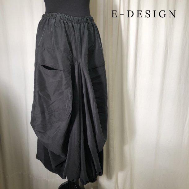 E-Design vandfalds buks matsort tencel