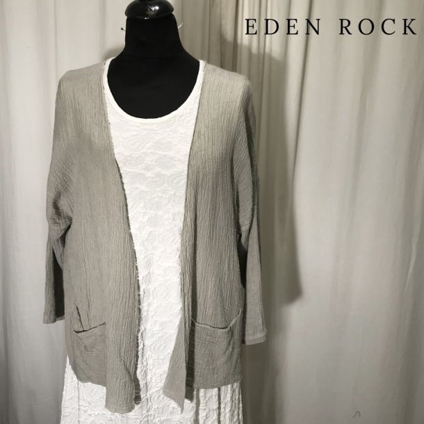 Eden rock kort bred jakke med lommer sand