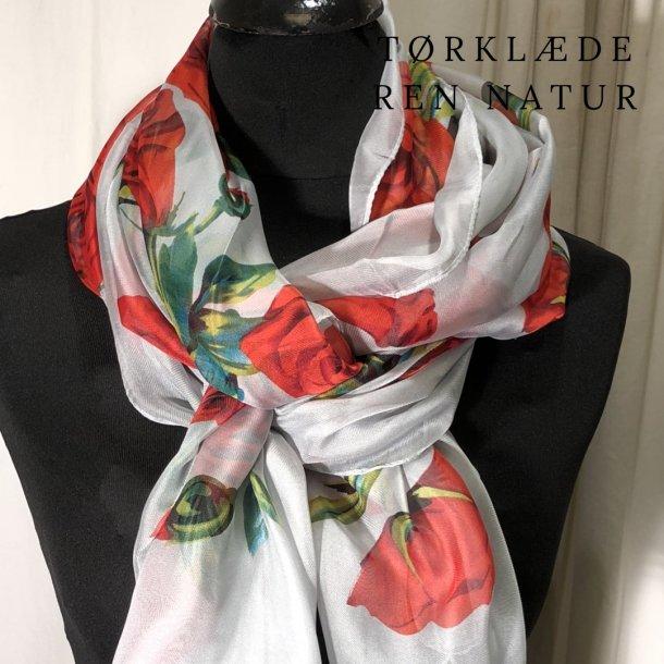 Tørklæde med roser