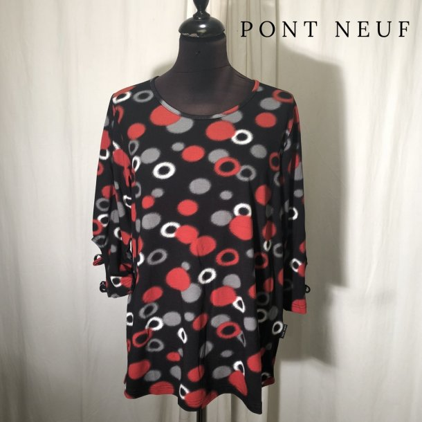 Pont Neuf bluse cirkelsymfoni rød/grå/sort