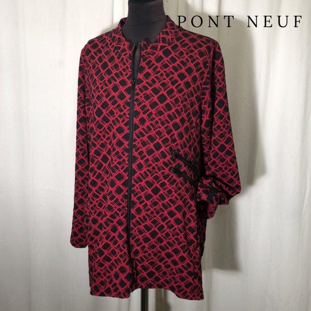 Pont Neuf design jakke grafisk rød/sort