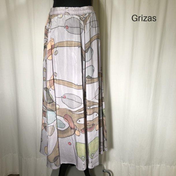 Grizas bambus og silke nederdel print